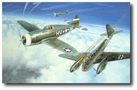 One for the Big Friends by Roy Grinnell (P-47)