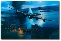 Operation Chastise by Robert Taylor (Lancaster)