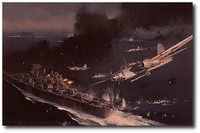 Ordeal of the USS Houston by Jack Fellows (Japanese Ki-76 Peggy)