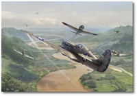 Oscar Valley by Jim Laurier (P-40 Warhawk)