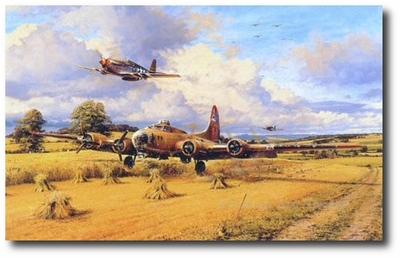 Out of Fuel and Safely Home by Robert Taylor (B-17 & P-51)