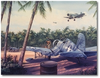 Pacific Airbase by Jim Laurier (F4U Corsair)