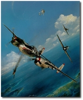 Pacific Summer by John Shaw (P-38 Lightning)