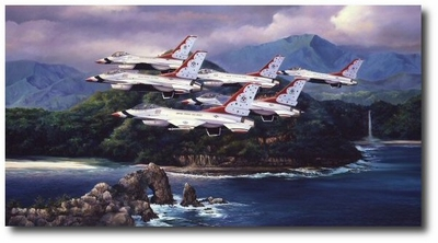 Pacific Thunder by Rick Herter (F-16)