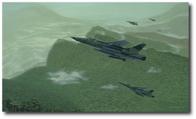 Pinnacle Reached: 100th Mission by Brian Bateman (F-105 Thunderchief)