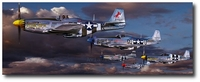 Pioneers of Freedom by Thierry Thompson (P-51 Mustang)