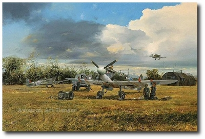 Preparing for Action by Robin Smith (Spitfire)