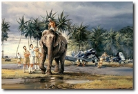 Puttalam Elephants by Robert Taylor (F4U Corsair)