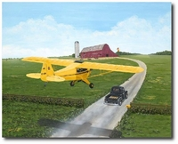 Racing for Home by Sam Lyons (Piper Cub)