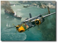 Raid on the China Coast by Roy Grinnell (B-25 Mitchell)