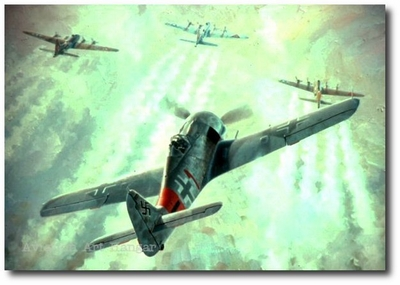 Rauhbautz, Marie, Special Delivery Bonnie B by Keith Ferris (FW-190 & B-17)
