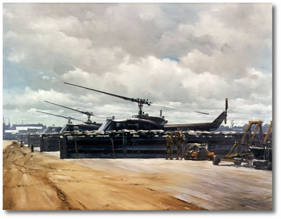 Ready, Willing and Waiting by R.G. Smith (UH-1 Huey)