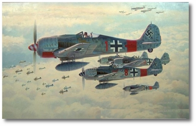 Real Trouble by Keith Ferris (Fw-190)