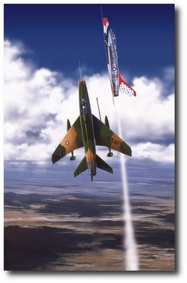 Red Baron by Thierry Thompson (F-100 Super Sabre)