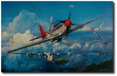 Red-Tail Angels by John Shaw (P-51 Mustang)