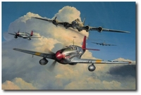 Red Tail Escort by Richard Taylor (P-51 & B-17)