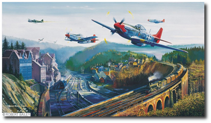 Red Tail Pass By Robert Bailey P 51 Mustang