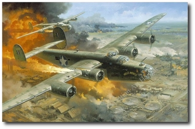 Remember.... Returning is Secondary by Roy Grinnell (B-24 Liberator)