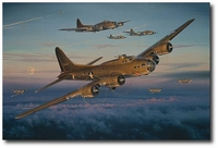 Return of the Red Gremlin by William S. Phillips (Secondary - B-17)