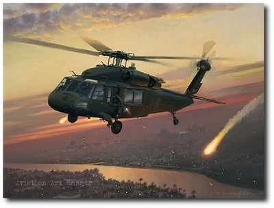 Returning Fire by William S. Phillips (UH-60 Blackhawk)