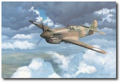 Returning to Kunming by Roy Grinnell (P-40 Warhawk)