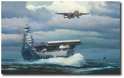Rising Into the Storm by William S. Phillips (B-25 Mitchell)