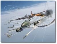 Rocket Attack by Jim Laurier (Me262)