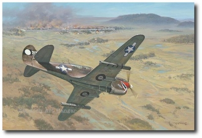 Rockets for Tengchong by Roy Grinnell (P-40 Warhawk)