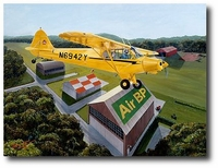 Round the Patch by Sam Lyons (Piper Super Cub)