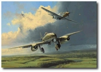 Running the Gauntlet by Robert Taylor (Me262 and P-51)