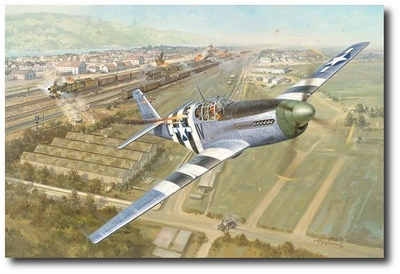 Sandy's Change of Plans by Roy Grinnell (P-51 Mustang)