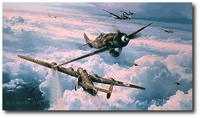 Savage Skies by Robert Taylor (Fw190 & B-24 Liberator)