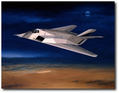 Scorpion Three by Mike Machat (F-117A)