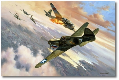 Scotty's Last Combat by Roy Grinnell (P-40)
