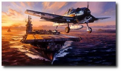 Scramble for the Marianas by Nicolas Trudgian (F6F Hellcat)
