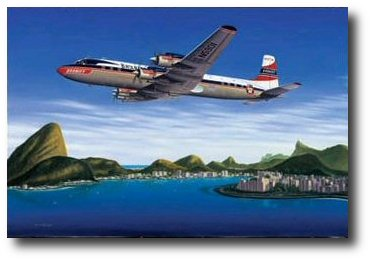 Seven Seas to Rio by Mike Machat (DC-7C)