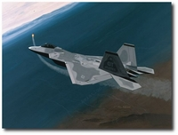 Sharpening the Sword by K. Price Randel (F-22 Raptor)