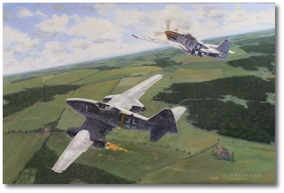 Shooting Swallows by Brian Bateman (P-51, Me-262)