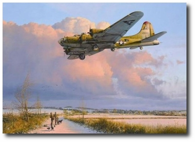 Skipper Comes Home by Robert Taylor (B-17)