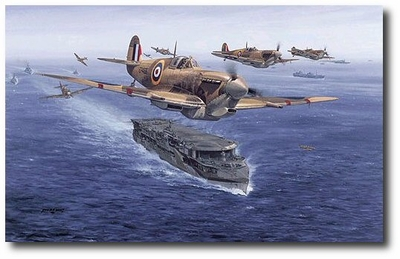 Spitfires - Malta Bound by Philip West