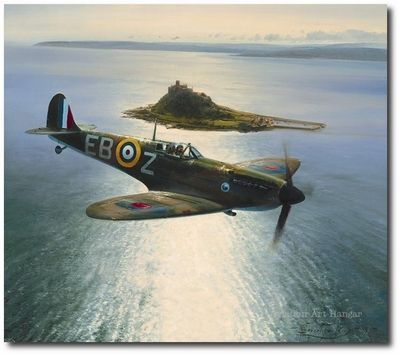 Spitfires Over St. Michael's Mount by Robert Taylor