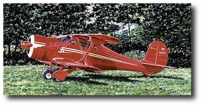 Staggerwing by Jack Fellows Beechcraft Staggerwing Aviation Art Prints