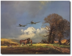 Steady there, them's Spitfires by Frank Wootton