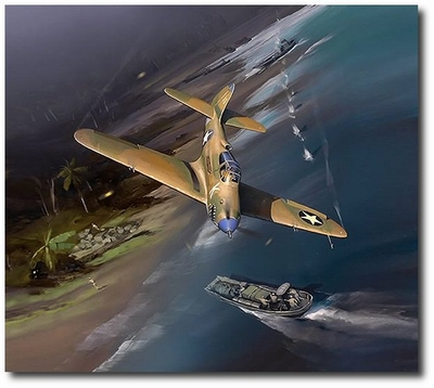 Stemming the Tide at Sanananda Point by Jack Fellows (P-39 Airacobra)