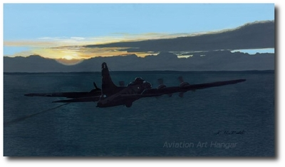 Straggler by K. Price Randel (B-17 Flying Fortress)