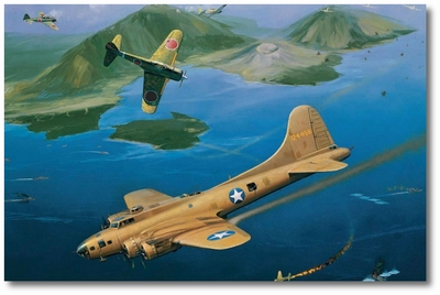 An Expensive Mission by Jack Fellows (B-17)