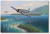 Swashbuckler's Surprise by Jim Laurier (F4U Corsair)