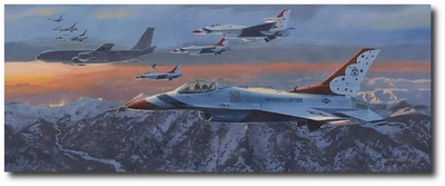 Tanker and T-Birds by Darby Perrin (F-16, KC-135R)