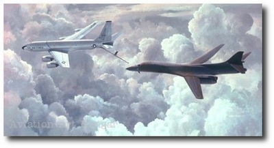 Team Mates by Keith Ferris (KC-135 & B-1B)