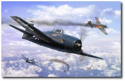 The Ace Maker by Mark Karvon (F6F Hellcat)